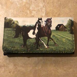 Handbags - Wallet- horse motif